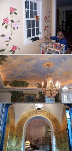 Biggs Art Studio has a team of 2 mural painters who have been servicing for 2 decades. They also provide specialized finishes, decorative painting, gilding, polished plaster, and trompe l'oeil.