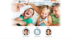 #sesamewebdesign #psds #responsive #dental #sticky #topnav #top-nav #full-width #fullwidth #blue #orange #white #sans #clean #circles