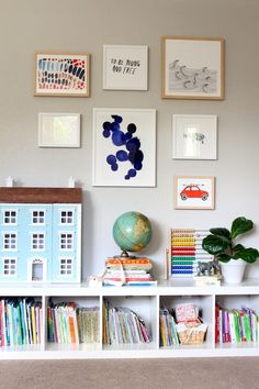 gallery wall with art from @minted