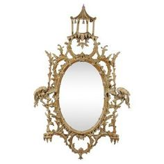 Check out this item at One Kings Lane! Chinese Chippendale-Style Mirror