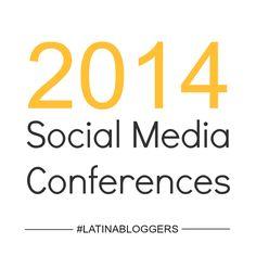 2014 Social Media Conferences Marketing Conferences, Social Media Conference, Event Marketing, Helping People, Latina, Infographics, Event Planning, Blogging, Business