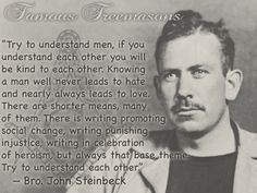 Famous Freemasons in History - John Steinbeck