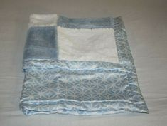 Blue Blanket, Security Blanket, Baby Blankets, Im Not Perfect, Plush, Blue And White, Satin, Pattern, Color