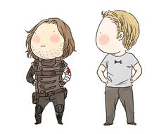 Cap and Winter Soldier dancing chibis fanart by xxxxxx6x