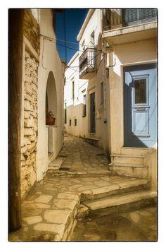 Streets of Naxos, Greece