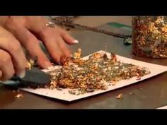 ▶ How to use Cosmic Shimmer Gilding Flakes with Stamping - YouTube