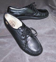 Women's Shoes Fast Deliver Sas Black Leather Comfort Shoe Oxfords Mens 6.5m