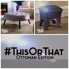 What's Your Style, Cocktail Ottoman, Play, Furniture, Beautiful, Instagram, Home Decor, Decoration Home, Room Decor