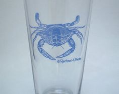 Blue Crab Pub Beer Mixing Glasses, 16 oz heavy bottom glasses, set of 4