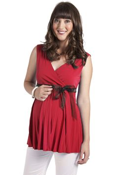 Sunray Top in Red    A great colour top for the festive season