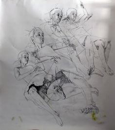 When I first started to create, I produced mostly black and white drawings, for I though colors might distract from the subject I tried to . Movement Drawing, Ap Drawing, Gesture Drawing, Life Drawing, Figure Drawing, Overlapping Art, Simon Birch, Klimt Art, Matte Painting