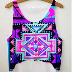 Aztec. Colorful. Summer tank