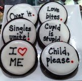 anti-Valentines Day cookies