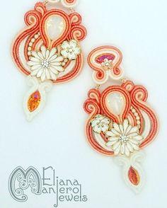 vitaminic #elianamanierojewels #soutache #earrings #italianstyle #italianjewels #madeinitaly
