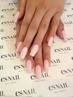 Pastel Pink Square Nails