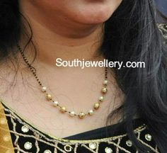 Indian Jewellery Designs - Latest Indian Jewellery Designs 2020 ~ 22 Carat Gold Jewellery one gram gold Pearl Necklace Designs, Gold Earrings Designs, Gold Jewellery Design, Gold Necklace Simple, Gold Jewelry Simple, Necklace Set, Gold Mangalsutra Designs, Making Ideas, Beaded Jewelry