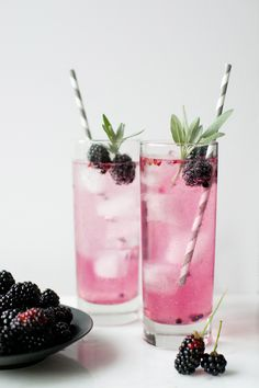Blackberry and Sage Spritzers