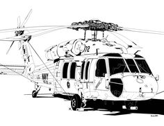 """Sikorsky MH-60S Knighthawk HSC-26 Helicopter Sea Combat Squadron Two Six """"Chargers"""""""