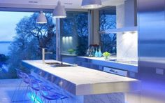 Kitchen design with LED lights