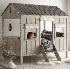 lit design cabane pour la chambre enfant