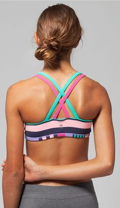 cottony soft + sweat-wicking to keep you cool. | Vitality Sports Bra *Reversible