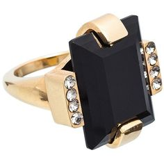 Marni Ring ($185) ❤ liked on Polyvore featuring jewelry, rings, onyx, rectangle rings, marni and marni jewelry