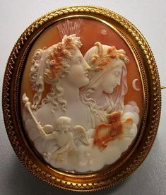 The Allegory of Day and Night   carnelian shell, Italy ca. 1850