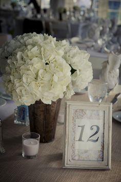 vintage centerpieces, but with red vases and turquoise numbers <3