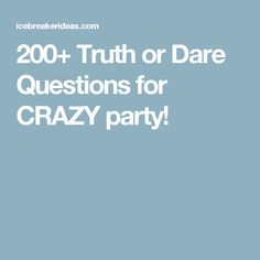 Dirty dare questions for teenagers