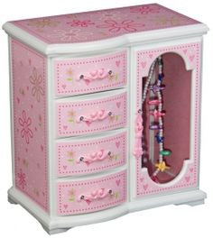Gift for daughter Personalized Girls Jewelry Box Decorative Storage