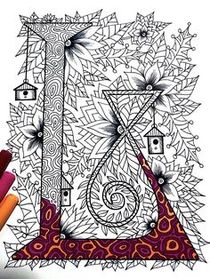 "Letter L Zentangle - Inspired by the font ""Penelope"""