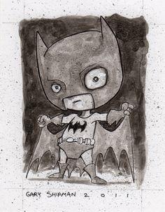 Cute Batman - by Gary Shipman