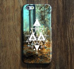 Forest Triangle iPhone 6s Case iPhone 6s Plus Case iPhone 6 Cover iPhone 5S 5 iPhone 5C iPhone 4/4ss Galaxy S6 Edge Galaxy s6 s5 Galaxy Note 5 Phone Case 147