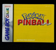 Pokemon Pinball Nintendo Game Boy Color Manual GBC Nintendo Instruction Booklet #Nintendo