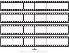 Printable Film Strip Decoration Coolest Free Printables