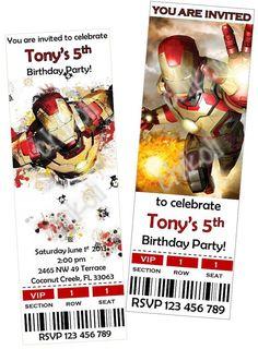 Iron Man Birthday Party Invitations & thank you cards by Chikoli, $8.00