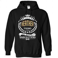 HEATHER Thing... - #university tee #pink hoodie. CHECK PRICE => https://www.sunfrog.com/Names/HEATHER-Thing-4728-Black-Hoodie.html?68278