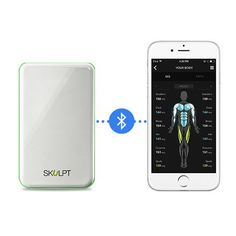 Skulpt Scanner Bundle Includes Charging Cradle Spray Water Bottle Access To Workout Advice