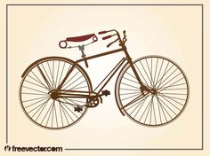 Vintage Bicycle vector free