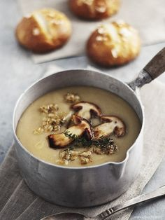 cream of potato soup with mushrooms