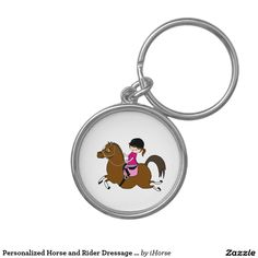 Personalized Horse and Rider Dressage Accessory Key Chain