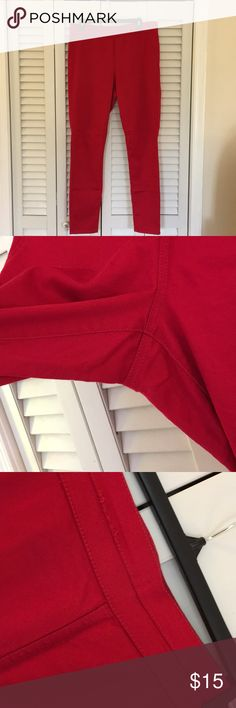 New York & Company high waist pull-on legging New York & Company soho high waist pull-on red leggings. Minimal signs of wear; imperfections in threads pictured. Shirt pictured also for sale in my closet. New York & Company Pants Leggings