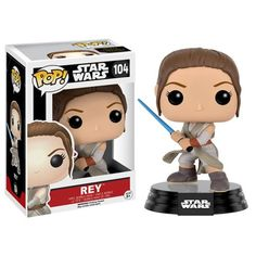 Figura Star Wars Episode VII Rey Con Lightsaber Pop! Vinyl