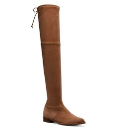 LOWLAND Over-the-Knee Boot in Walnut Suede