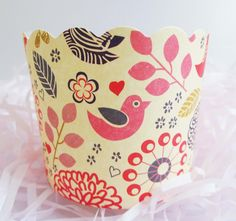Flight of Fantasy Baking Cups for Cupcakes & Muffins  Beautiful floral…