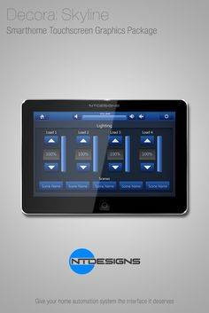 Crestron Smart Graphics Theme - Skyline by NTDesigns.  www.ntdesignsonline.com