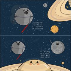 """""""What's up in the Solar System"""" - Star Wars Day Illustration"""