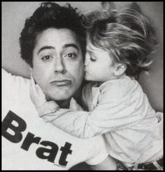robert downey jr. with his son, indio