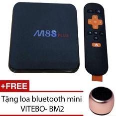 Android TV Box MBOX M8S Plus (Đen) + Loa bluetooth mini VITEBO - BM2