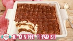 Easy Tiramisu – the perfect last minute dinner party dessert! NO EGGS - Easy 10 Minute Tiramisu Recipe - Gemma's Bigger Bolder Baking Make Ahead Desserts, No Bake Desserts, Easy Desserts, Delicious Desserts, Italian Desserts, Homemade Desserts, Easy Dinner Party Desserts, Homemade Ice, Party Appetizers